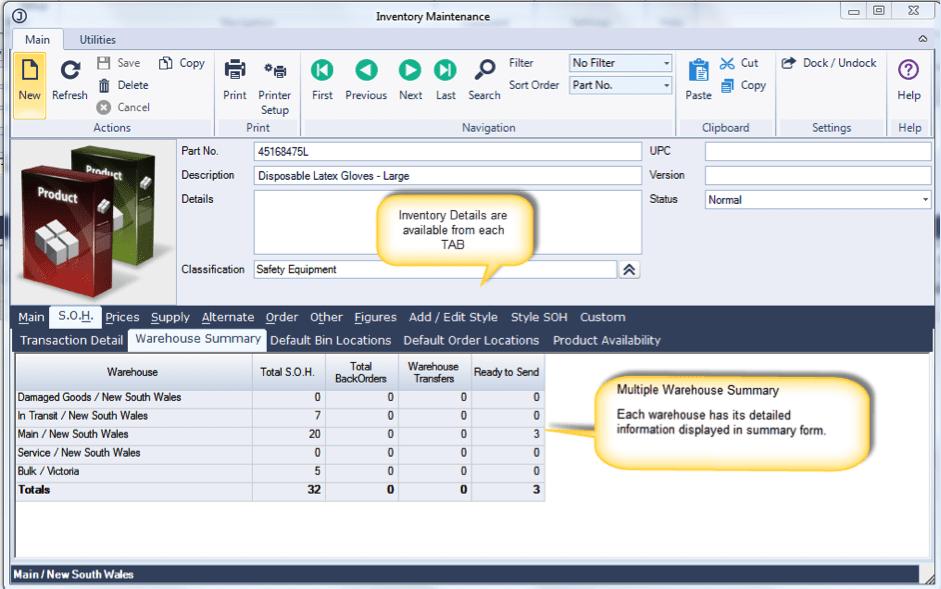 Jiwa Inventory Management Module